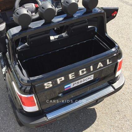Электромобиль Range Rover XMX601 4WD 2-х местный, белый (легко съемный АКБ 12v10, колеса резина, сиденье кожа, пульт, музыка)