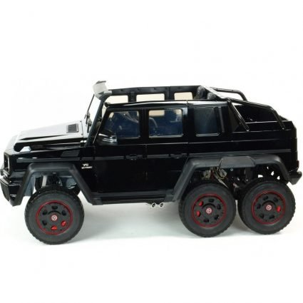 Электромобиль Mercedes-Benz G63-AMG 4WD черный (шестиколесный, привод на 4 колеса, музыка, пульт управления)