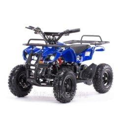 Детский квадроцикл на аккумуляторе MOTAX Mini Grizlik Х-16 мощностью 800W синий (пульт контроля, до 30 км/ч)